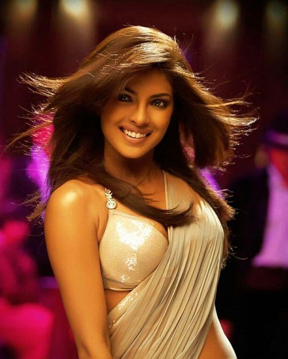 priyanka in bold sari blouse